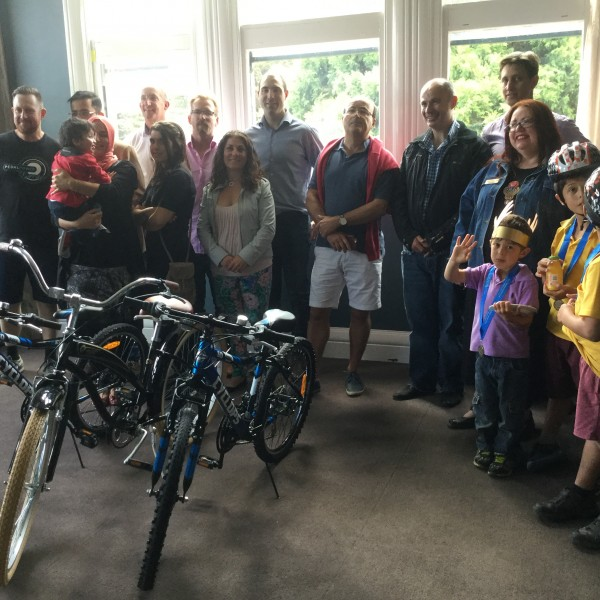 Noah's Ark siblings receive bikes