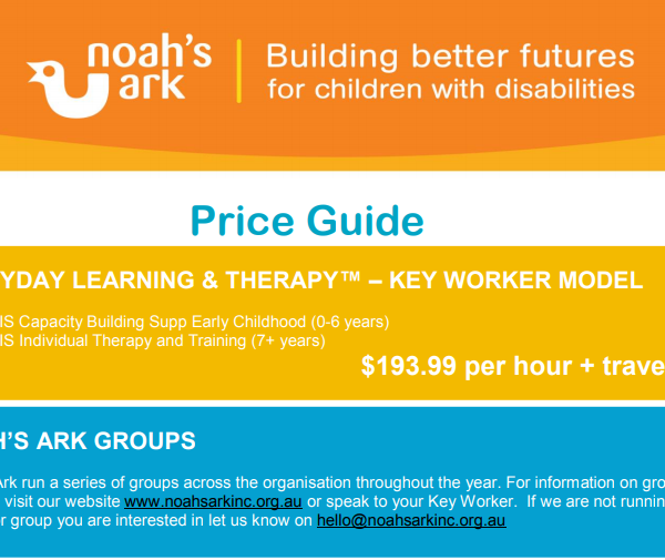 National Disability Insurance Scheme (NDIS) Price Guide update